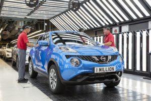 Завод Nissan у Великобританії випустив мільйонний Juke